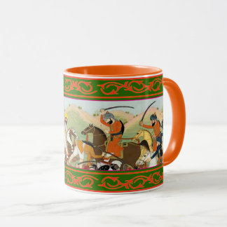 Kaur -  Sikh Historical Art #2 - orange Mug