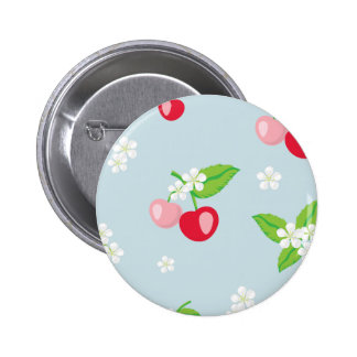 kawai,cherry,cute,trendy,girly,floral,modern,kids 6 cm round badge