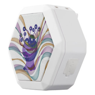 Kawai, monster,colorful,abstract,fun,happy,kids white boombot rex bluetooth speaker