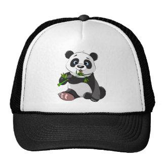 kawai panda eating palm leaf cute trendy lovely trucker hat