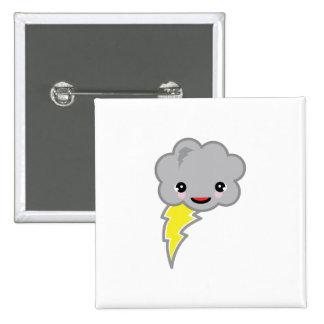 kawai storm cloud 15 cm square badge