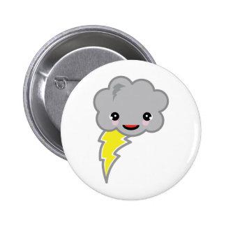kawai storm cloud 6 cm round badge