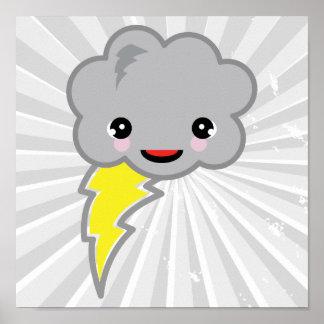 kawai storm cloud poster