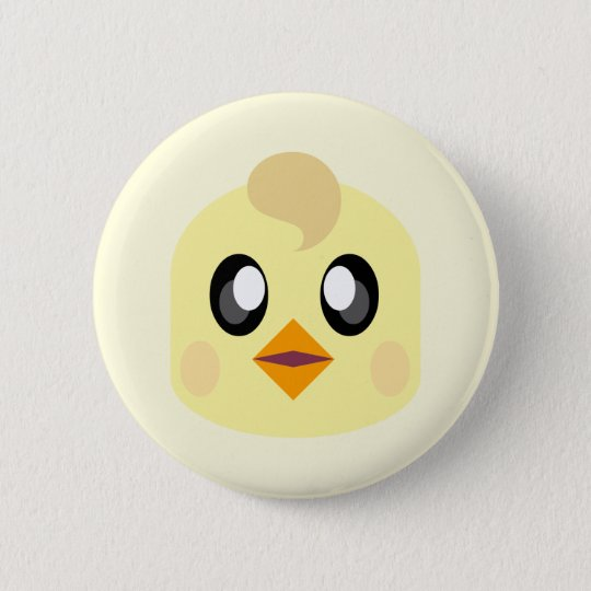 KAWAII ADORABLE CHICKIE 6 CM ROUND BADGE