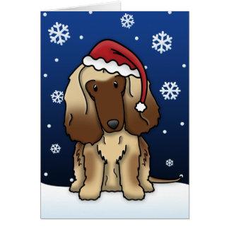 Kawaii Afghan Hound Christmas Card