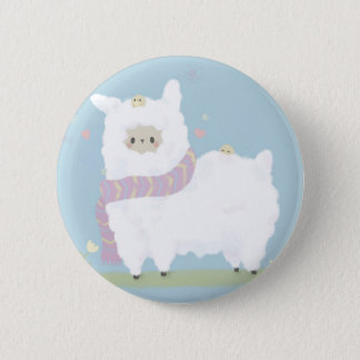 Kawaii Alpaca Badge