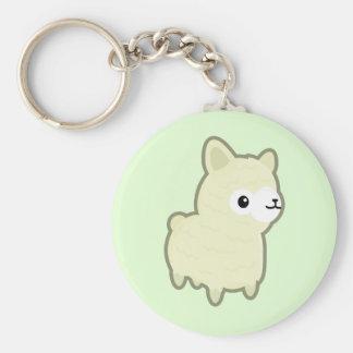 Kawaii alpaca basic round button key ring