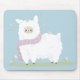 Kawaii Alpaca Mousepad. Mouse Mat