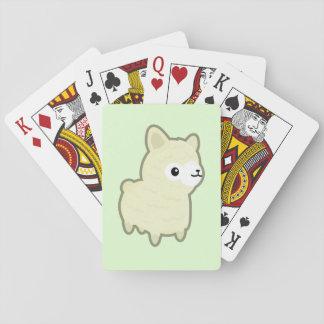 Kawaii alpaca playing cards
