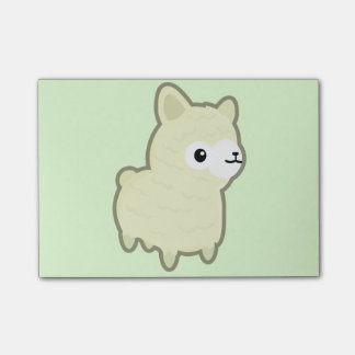 Kawaii alpaca post-it notes