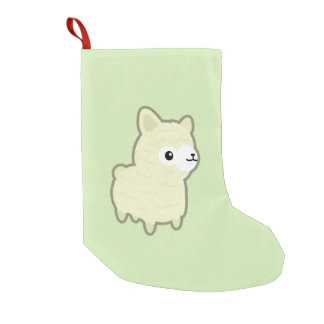 Kawaii alpaca small christmas stocking