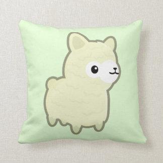 Kawaii alpaca throw pillow