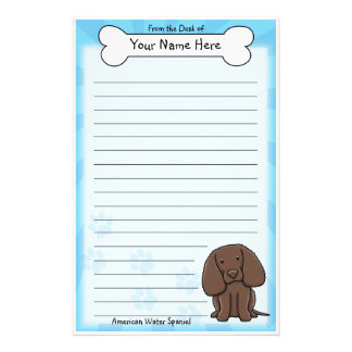 Kawaii American Water Spaniel Stationery
