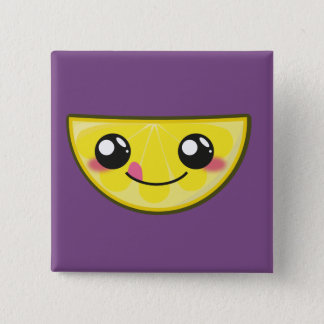 Kawaii and funny lemon button