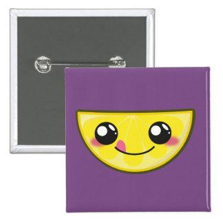 Kawaii and funny lemon button