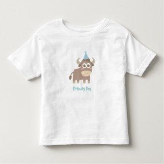 Kawaii and Happy Bull with Polka Dots Party Hat Tshirts