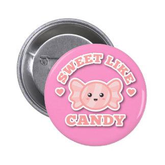 Kawaii and Sweet Like Candy Pinback Buttons