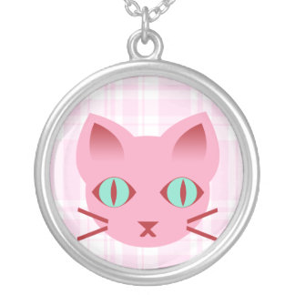 Kawaii Anime Kitty Cat Sterling Silver Necklace