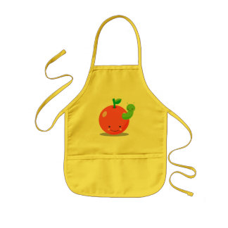 kawaii apple apron