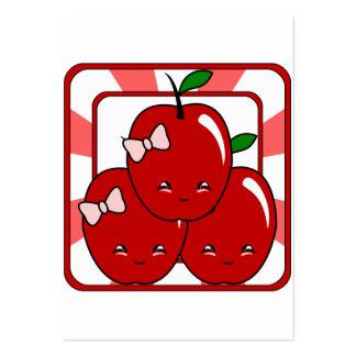 Kawaii Apple Basket (Girl) Pack Of Chubby Business Cards