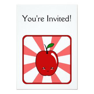 Kawaii Apple (Boy) 13 Cm X 18 Cm Invitation Card