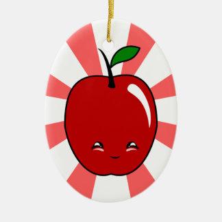 Kawaii Apple (Boy) Christmas Tree Ornament