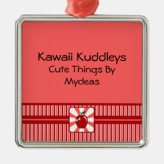 Kawaii Apple (Girl) Christmas Tree Ornament