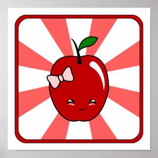Kawaii Apple (Girl) Poster