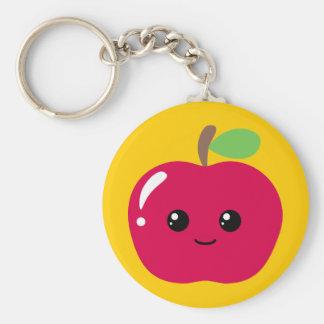 Kawaii Apple Key Ring