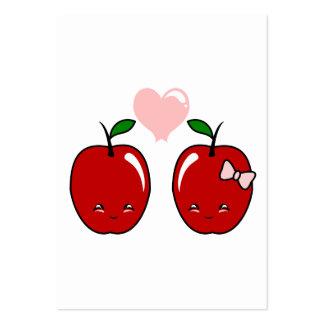 Kawaii Apple Love Business Card