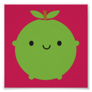 Kawaii Apple Poster