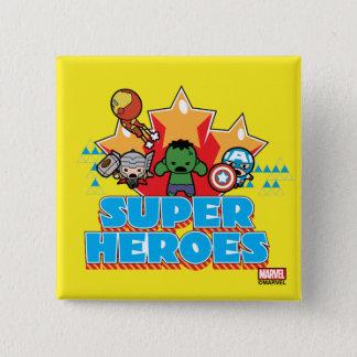 Kawaii Avenger Super Heroes Graphic 15 Cm Square Badge