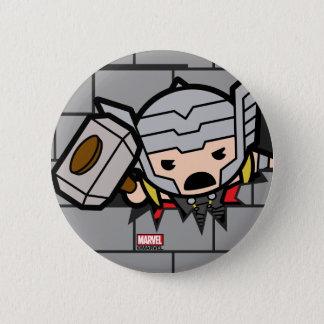Kawaii Avengers Brick Wall Pattern 6 Cm Round Badge