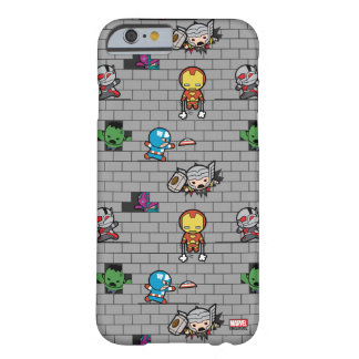 Kawaii Avengers Brick Wall Pattern Barely There iPhone 6 Case