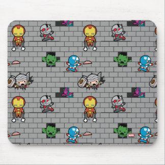 Kawaii Avengers Brick Wall Pattern Mouse Mat