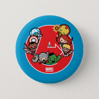 Kawaii Avengers Inside A-Logo 6 Cm Round Badge