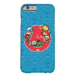 Kawaii Avengers Inside A-Logo Barely There iPhone 6 Case