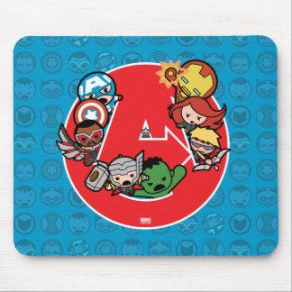 Kawaii Avengers Inside A-Logo Mouse Mat
