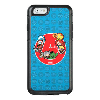 Kawaii Avengers Inside A-Logo OtterBox iPhone 6/6s Case