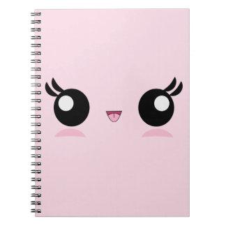Kawaii Baby Face notebook