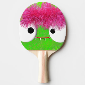 kawaii baby monster face ping pong paddle