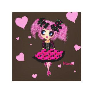Kawaii ballerina PinkyP cute ballet lolita Gallery Wrap Canvas