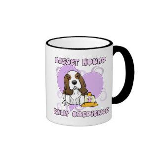 Kawaii Basset Hound Rally Obedience Coffee Mug