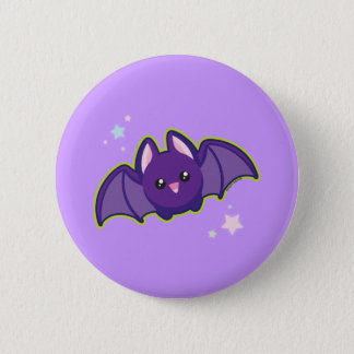 Kawaii Bat 6 Cm Round Badge