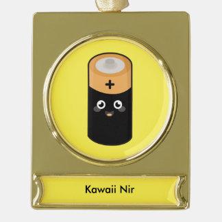 Kawaii battery gold plated banner ornament