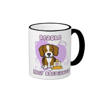 Kawaii Beagle Rally Obedience Ringer Mug