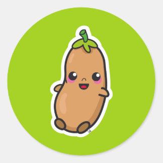 Kawaii Bean sticker