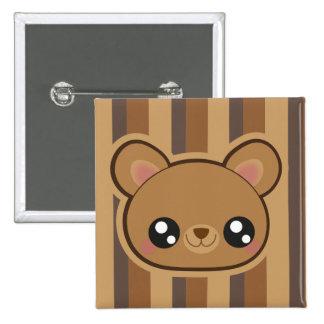 Kawaii bear square button
