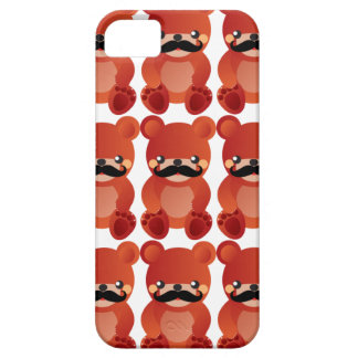Kawaii Bear with Mustache Humor iPhone Case