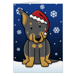 Kawaii Beauceron Christmas Card